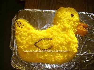 Homemade Duck Birthday Cake