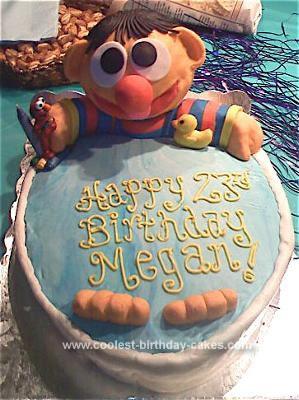 Homemade Ernie Birthday Cake