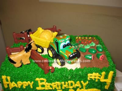 Homemade Farm Birthday Cake