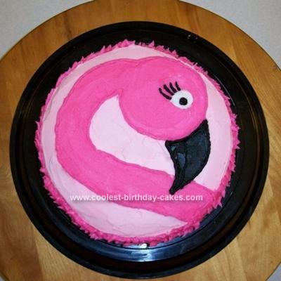 Homemade Flamingo Birthday Cake