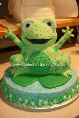 Fine Coolest Homemade Frog Birthday Cake Using The Wilton 3D Bear Pan Personalised Birthday Cards Epsylily Jamesorg