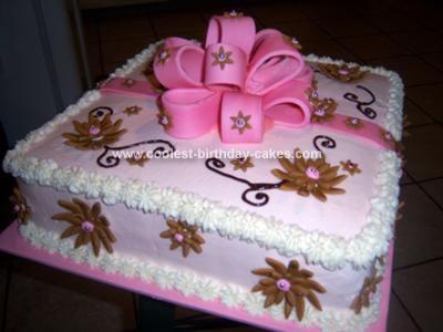 Surprising Coolest Homemade Giftbox Birthday Cake Funny Birthday Cards Online Fluifree Goldxyz