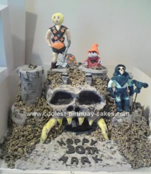 Homemade Greyskull from Masters of the Universe Cake
