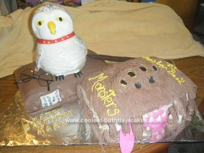 Homemade Harry Potters Books Birthday Cake