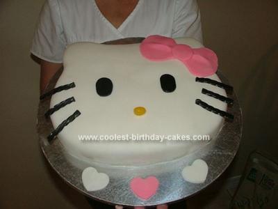 Coolest Homemade Hello Kitty Birthday Cake