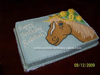 Tremendous Coolest Homemade Horse Birthday Cake Funny Birthday Cards Online Fluifree Goldxyz