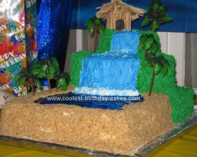 Homemade Luau Cake