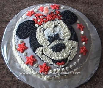 Homemade Homemade Minnie Mouse Cake