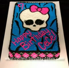 Incredible Coolest Homemade Monster High Cake Funny Birthday Cards Online Alyptdamsfinfo