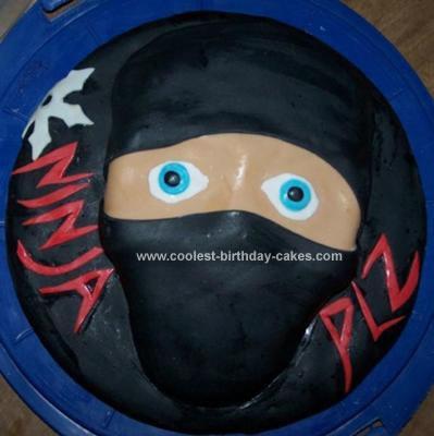 Homemade Ninja Birthday Cake