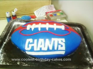 Groovy Coolest Homemade Ny Giants Football Birthday Cake Funny Birthday Cards Online Inifodamsfinfo