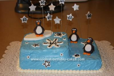 Admirable Coolest Homemade Penguin Birthday Cake Funny Birthday Cards Online Aeocydamsfinfo