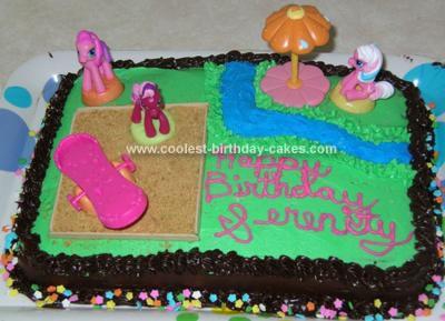 Homemade Ponyville Playground Cake