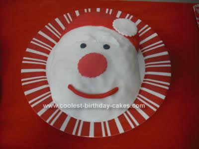 Homemade Santa Claus Cake