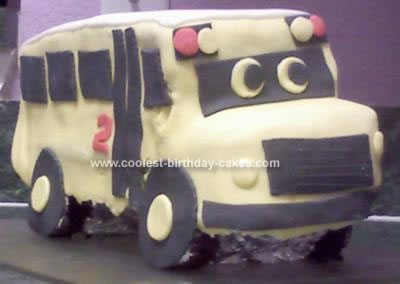 Homemade School Bus Birthday Cake