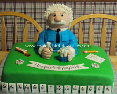 Homemade Scientist Cake