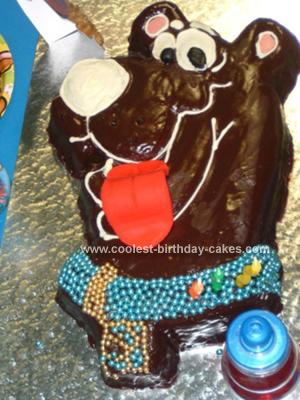 Homemade Scooby Doo Birthday Cake