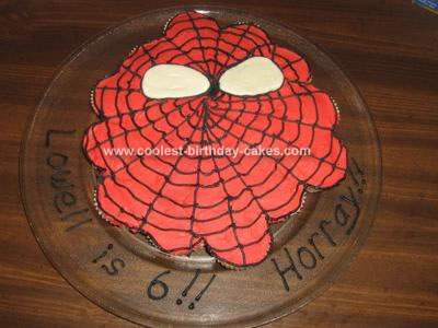 Homemade Spiderman Cupcakes Cake