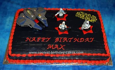 Brilliant Coolest Homemade Star Wars Birthday Cake Personalised Birthday Cards Paralily Jamesorg