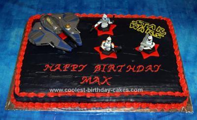 Homemade Star Wars Birthday Cake