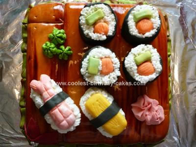 Homemade Sushi Birthday Cake