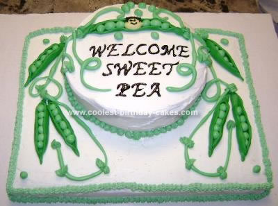 Homemade Sweet Pea Cake