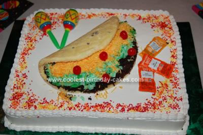Homemade Taco Birthday Cake