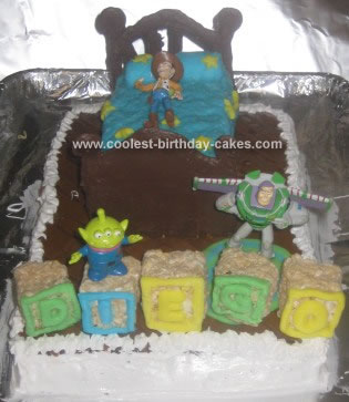 Homemade Toy Story Birthday Cake