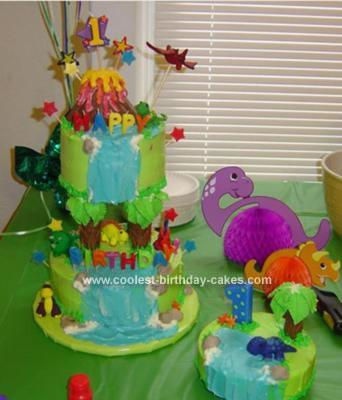 Homemade Waterfall Birthday Cake