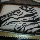 Homemade Zebra Birthday Cake