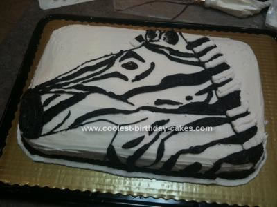 Homemade Zebra Birthday Cake