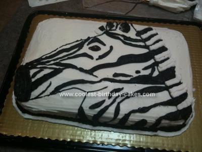 Pleasing Coolest Homemade Zebra Birthday Cake Funny Birthday Cards Online Alyptdamsfinfo