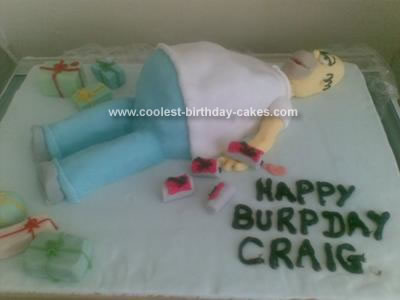 Homemade Homer Simpson Birthday Cake