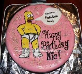 Homemade Homer Simpsons Birthday Cake