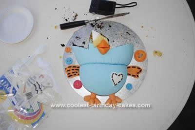 Homemade Hoot the Owl Cake