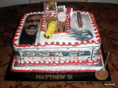 Cool Homemade Horror Movie Birthday Cake