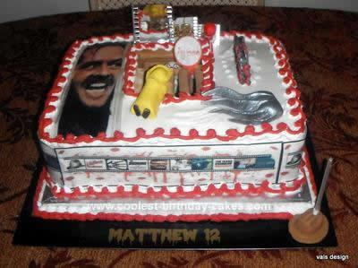 Homemade Horror Movie Birthday Cake