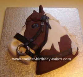 Magnificent Coolest Horse Birthday Cake Funny Birthday Cards Online Alyptdamsfinfo