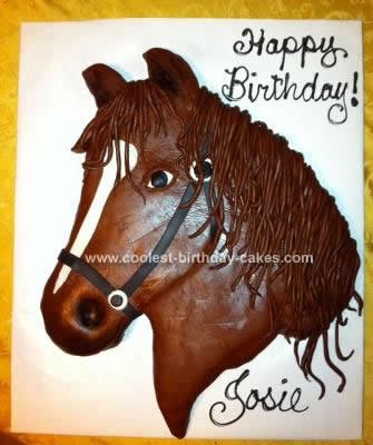 Homemade Horse Birthday Cake