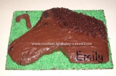 Homemade Horse Birthday Cake Idea