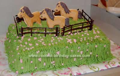 Peachy Coolest Horse Birthday Cake Idea Birthday Cards Printable Giouspongecafe Filternl