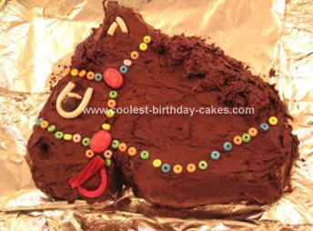 Brown Horse And Mane Cake