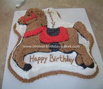Homemade Horse Cake
