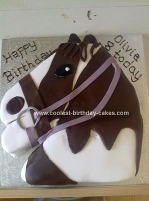 Homemade Horse Cake