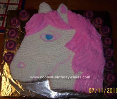 Homemade Horse Cake Design