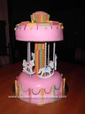 Homemade Horse Carousel Cake