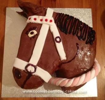 Homemade Horse Head Cake