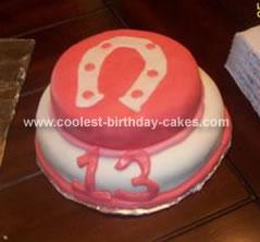 Homemade Horseshoe Cake