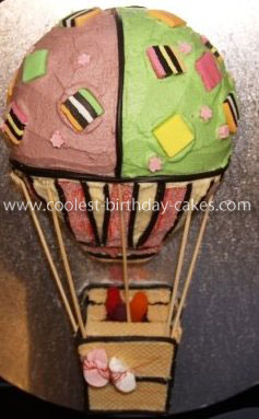 Homemade Hot Air Balloon Cake