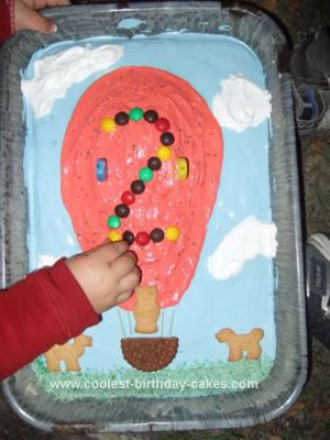 Cute Homemade Hot Air Balloon Cake